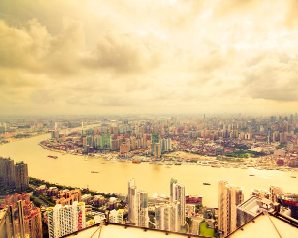 Фотообои небоскребы вид сверху (city-0000580)