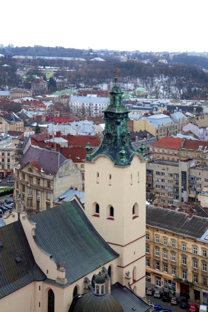 Фотообои Львiв собор, костел (city-0000640)