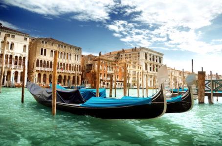 Фотообои венеция фото Италия гондолы (city-0001005)