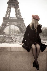 Фотообои Эйфелева башня вид на Париж (city-0001291)