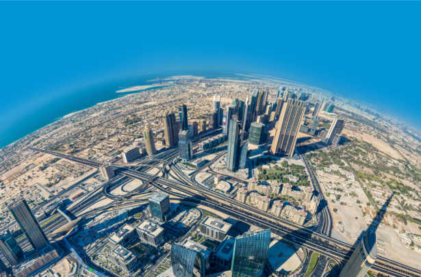 Фотообои вид из окна Бурдж Дубаи (city-0001389)