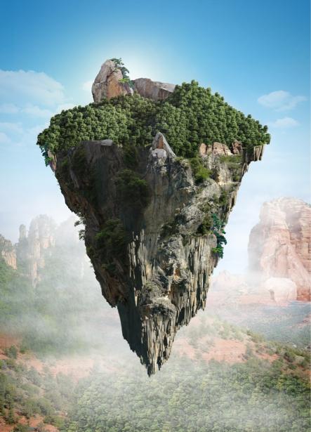 Фотообои остров в небесах (fantasy-0000138)
