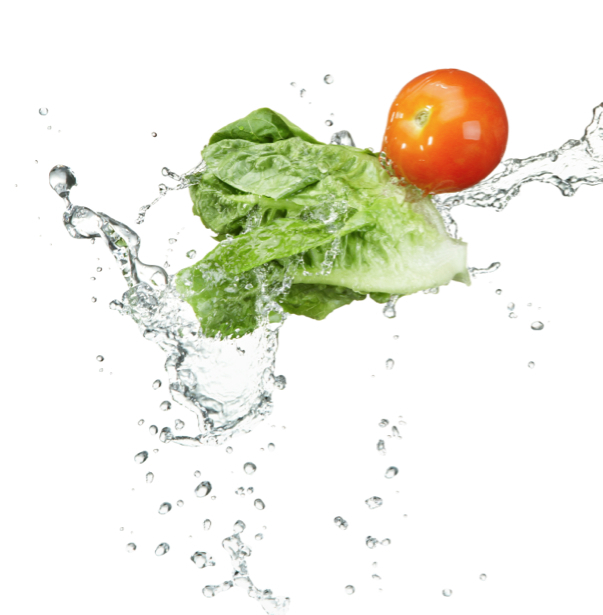 Фотообои на кухне овощи в воде (food-0000093)