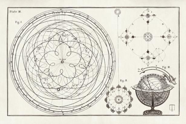 астрономия, астрономическая иллюстрация (map-0000058)