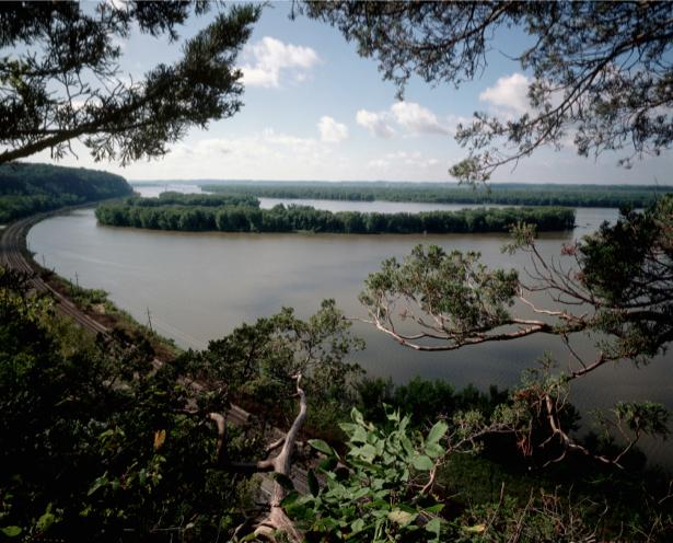 Фотообои пейзаж с рекой (nature-00227)