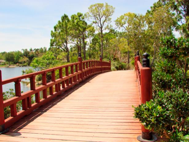 Фотообои мост река фото пейзаж (nature-00229)