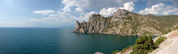 Фотообои пейзаж горы и море (nature-00422)