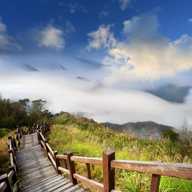 Фотообои лестница на гору (nature-00552)