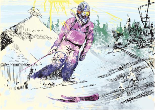 Фотообои Лыжник в горах (sport-0000163)