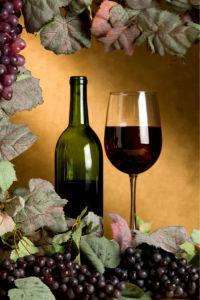 Фотообои виноград с вином (still-life-0040)