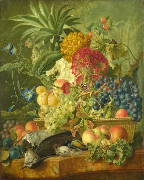 Фотообои натюрморт цветы и фрукты (still-life-0077)