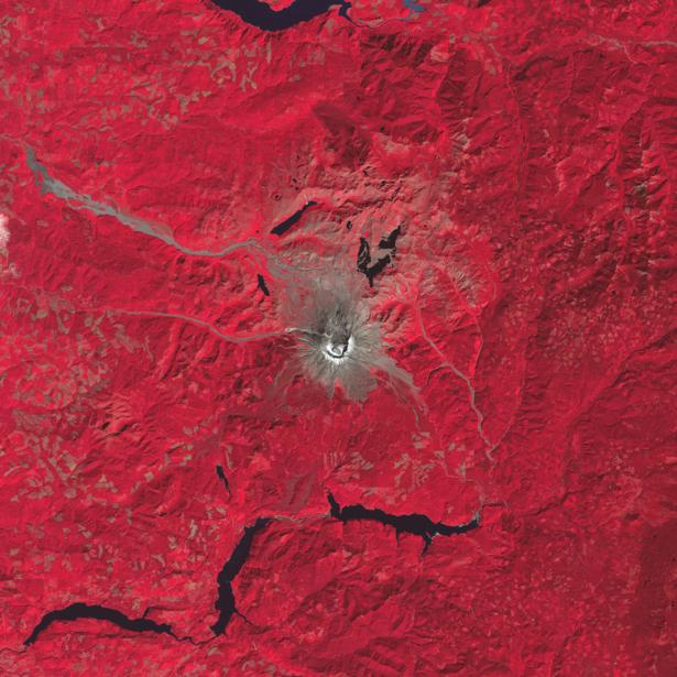 Фотообои NASA красные горы (terra-00267)
