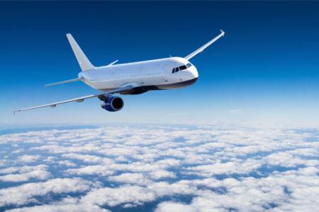 Фотообои пассажирский самолет (transport-0000230)
