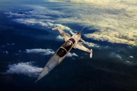Фотообои самолет в небе (transport-0000250)