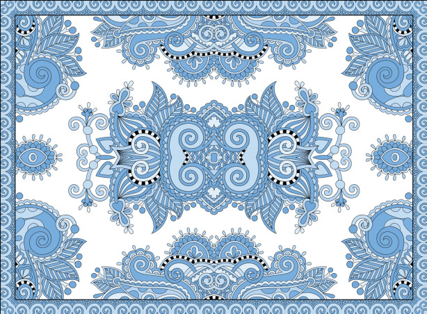 Скатерть голубая фантазия (0131)