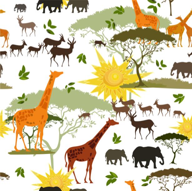 Паттерн фотообои Африка (animals-0000474)