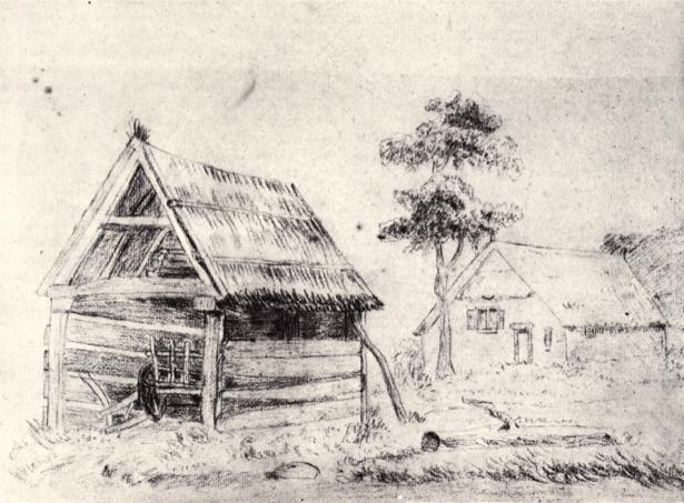 Ван Гог дом, графика (art-0000163)