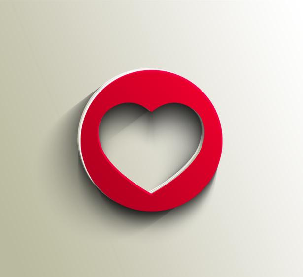 фотообои Сердечко в круге (background-0000355)