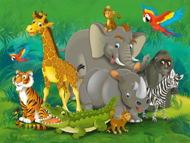 Фотообои детские - Животные зоопарка (children-0000264)