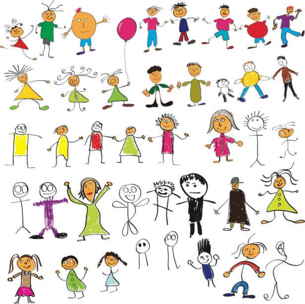 Фтошторы веселые человечки (children-curtain-00016)