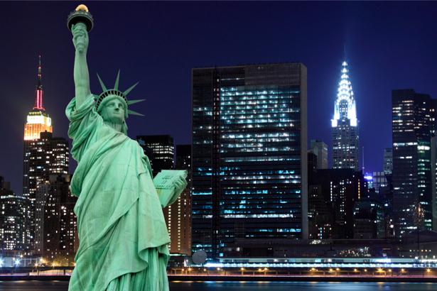 Фотообои статуя Свободы, Бруклинский мост (city-0000562)