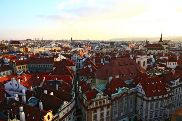 Фотообои Прага Чехия вид сверху (city-0000626)