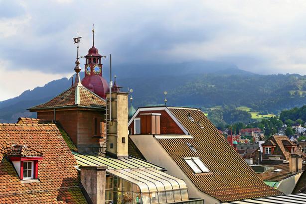 Фотообои Альпы Швейцария (city-1446)