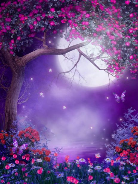 Фотообои сказочное дерево в цветах (fantasy-0000027)