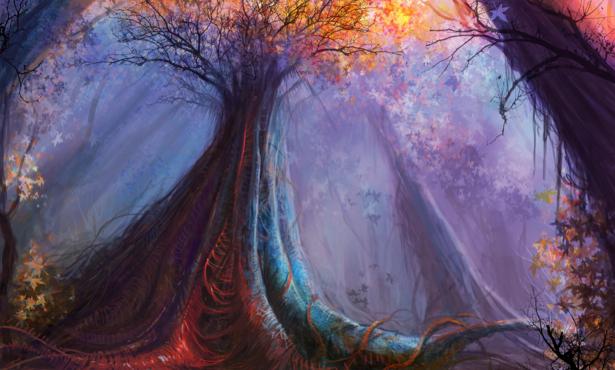 Фотообои фентезийный лес (fantasy-0000111)