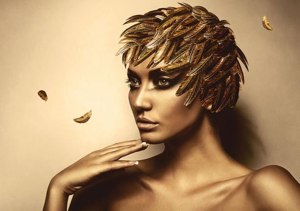 Фотообои Девушка в золоте (glamour-314)