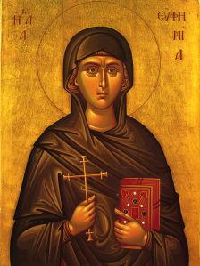 Икона Святая великомученица Евфимия (icon-00109)