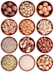 Фотошторы орехи и семечки (kitchen-curtain-00011)