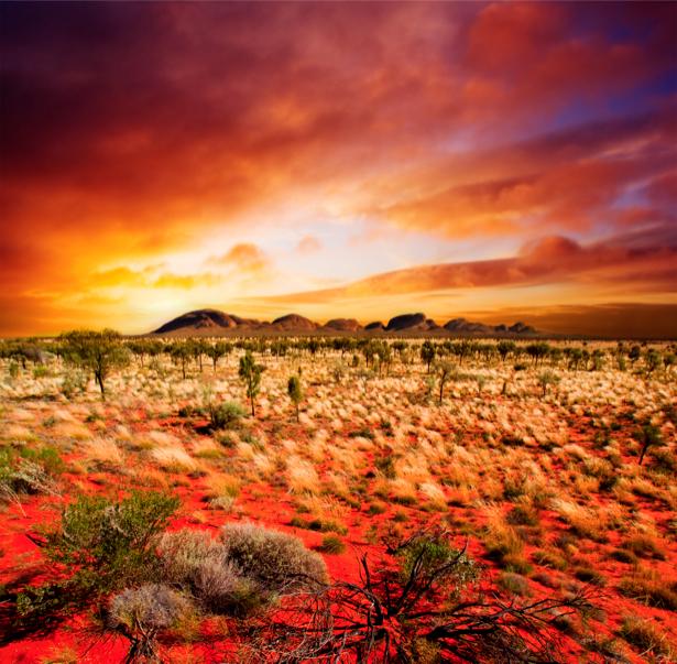 Фотообои яркие закаты горный пейзаж (nature-00173)