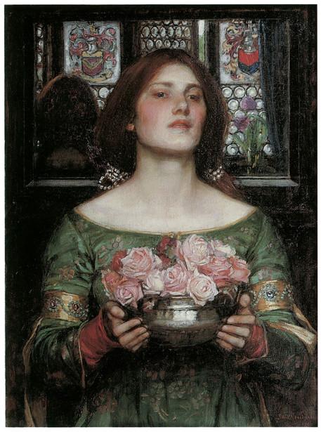Картина женщина с цветами (pf-118)
