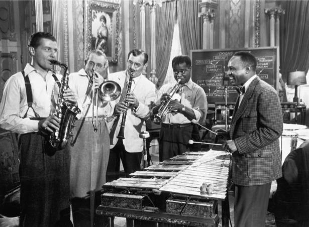 Фотообои Луи Армстронг и оркестр (retro-vintage-0000239)