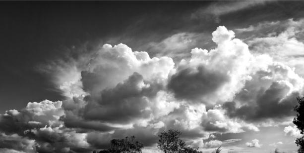 Фотообои черно белые облака (sky-0000138)