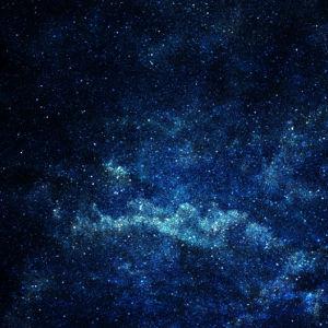 Фотообои созвездия в синем (space-0000003)