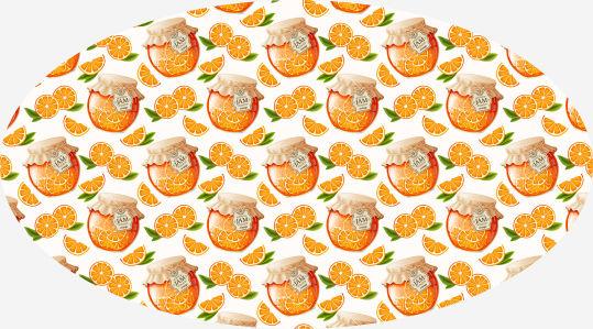 Скатерть Апельсиновый джем (0104)
