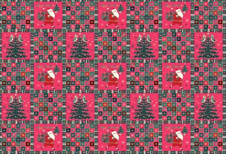 Скатерть Санта-Клаус и елочка (204)