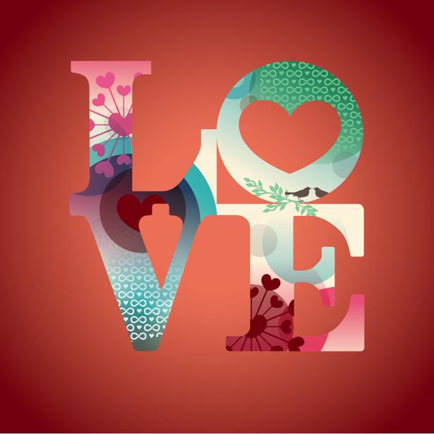 Фотообои Love (background-0000368)
