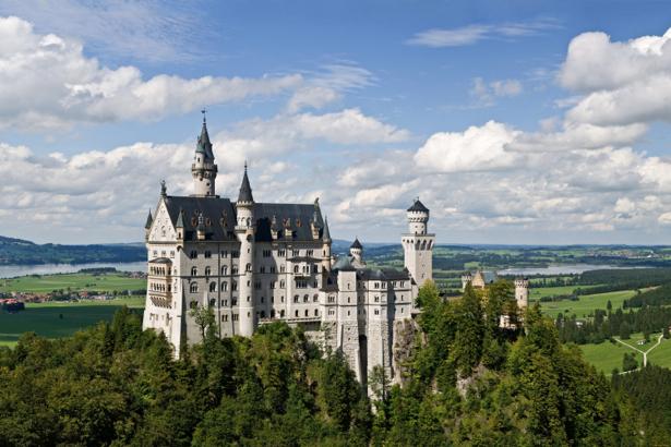 Замок Фотообои Нойшванштайн Бавария (city-0000747)