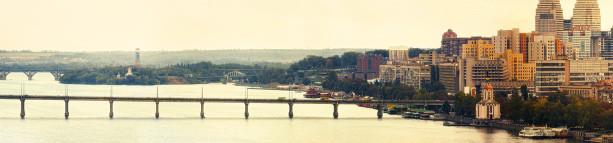 Фотообои панорама Днепропетровска мост (city-0000940)