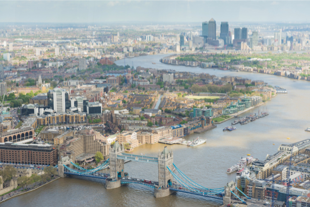 Фотообои лондон вид сверху (city-0001030)