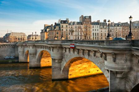 Фотообои Мост в Париже река Сена (city-0001306)