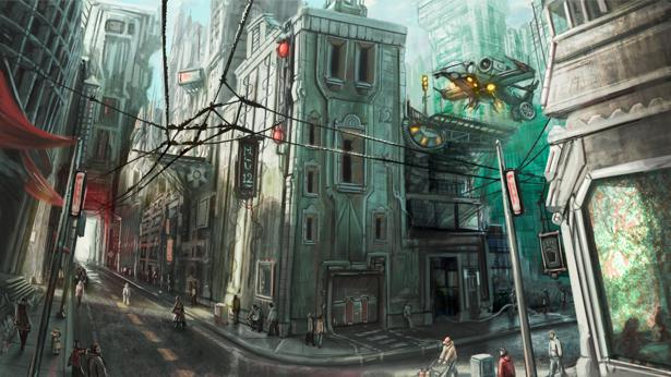 Фотообои город будующего (fantasy-0000054)