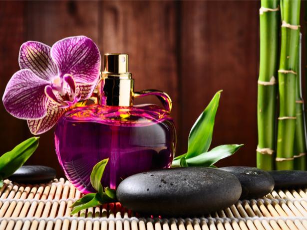 Фото обои для стен орхидея с камешками (flowers-0000493)