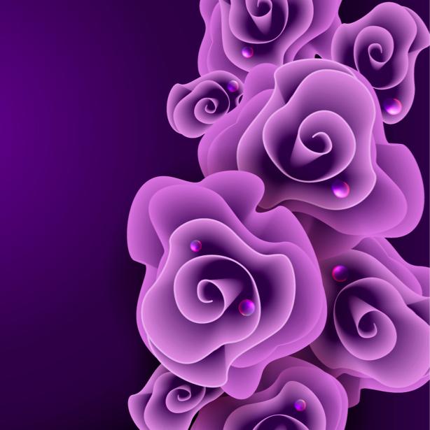 Обои для стен Розовые цветы (flowers-0000607)