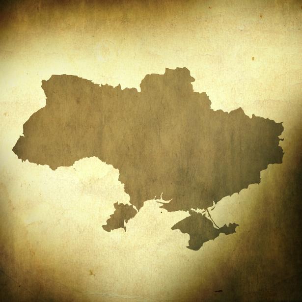 Фотообои карта Украины на бумаге (map-0000198)