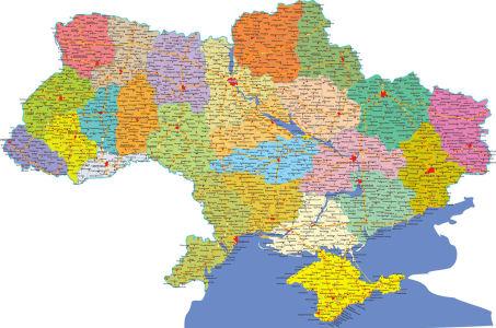 Фотообои Карта Украины на украинском (map-231)
