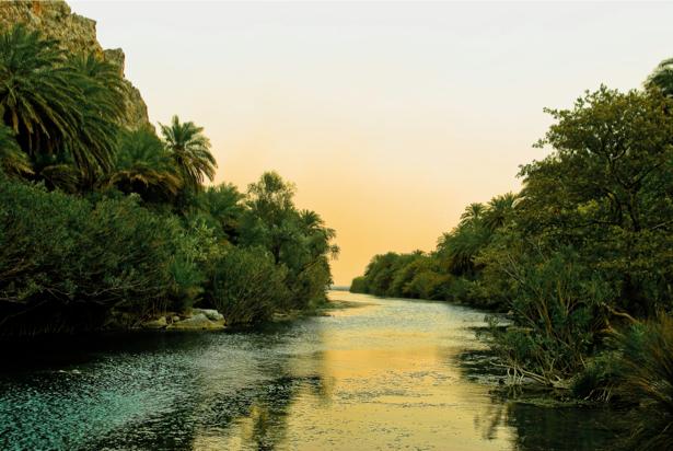 Фотообои с природой река закат (nature-00049)